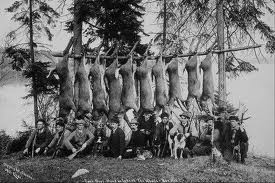 pioneers hanging meat