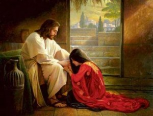 Jesus repentant woman