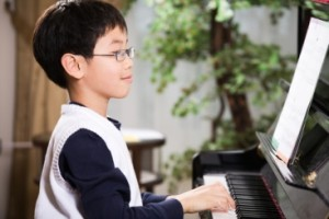 This was not how my son looked while he practiced the piano!